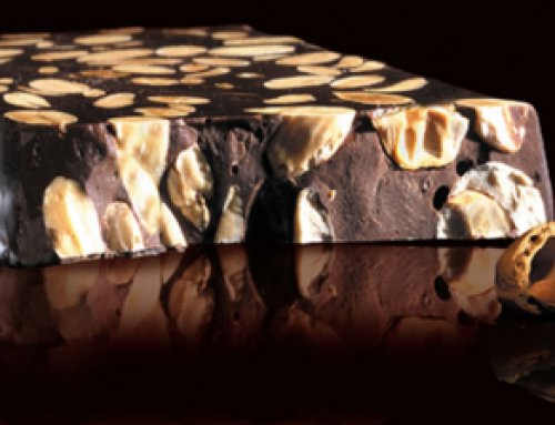 Recipe chocolate nougat with almonds and walnuts